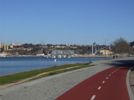 Cycling path Vila Nova de Gaia